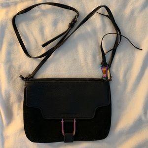 Aimee Kestenberg black pebble leather purse